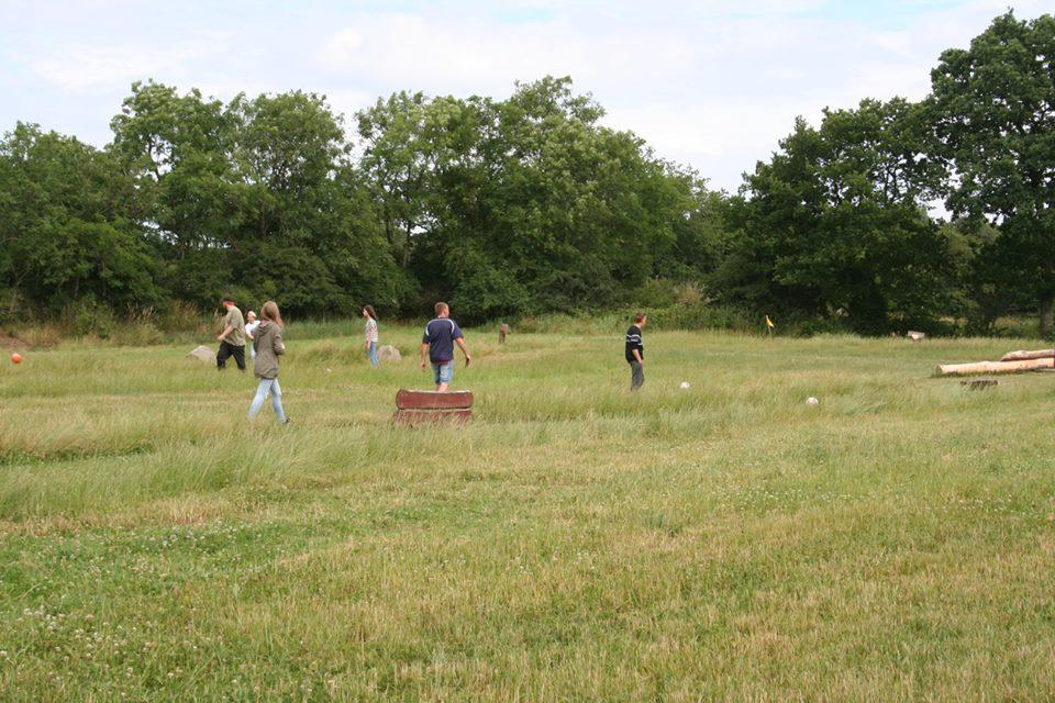Der var store områder hvor der kunne laves aktiviteter