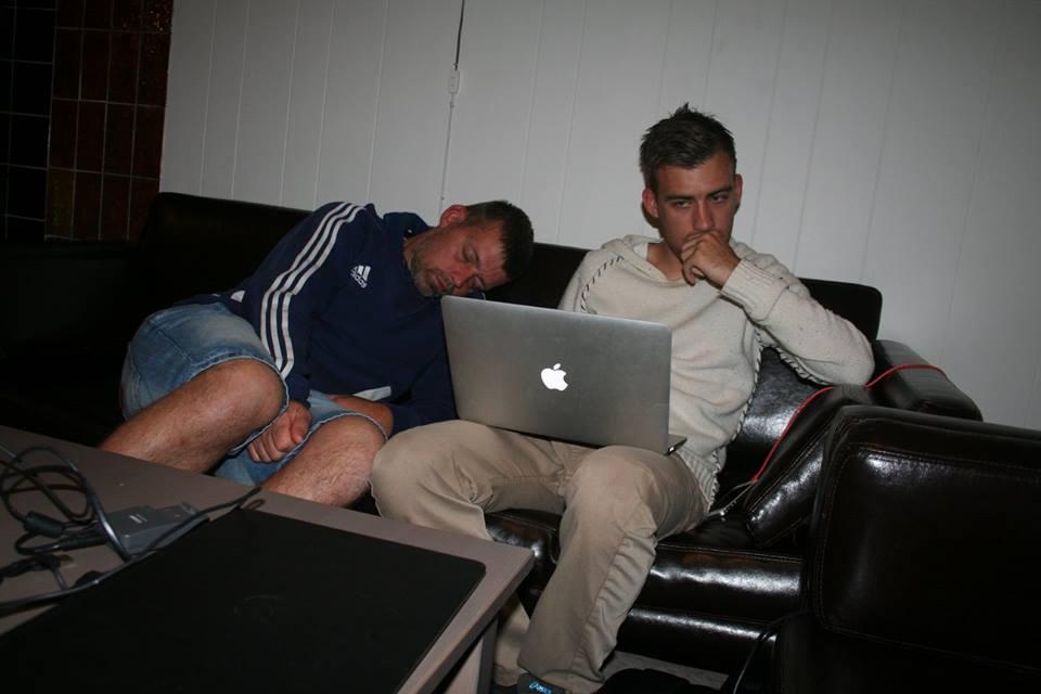 Jens Kristensen og sønnen Michael